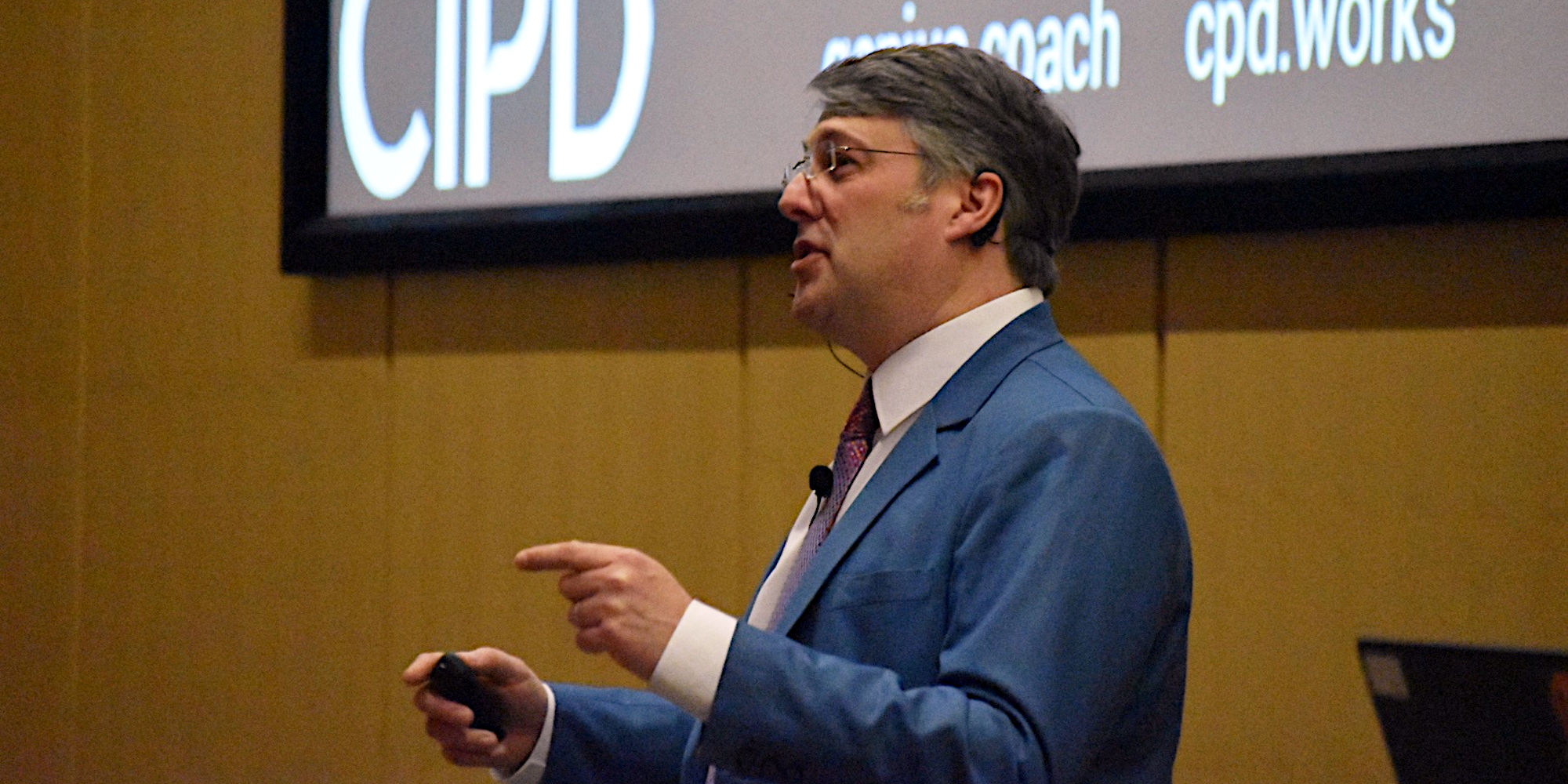 Peter Freeth speaking at the 2019 CIPD Student Conference